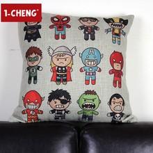 Cute Cartoon Design Printed Cushion Pillow Body Pillow Office Chair Seat Cushion cotton filled pillow