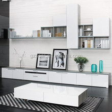 Blue Saarinen Modern Corner TV Cabinet with Showcase