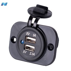 Waterproof USB Charger Adapter Socket 12-24V Outlet Power Jack Marine Motorcycles
