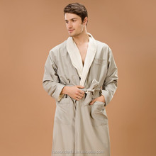 smoke shawl collar double layer microfibre spa robes wholesale for couples