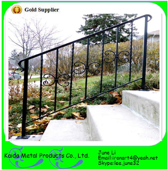 wrought iron outdoor metal handrails for outdoor porch steps stairs