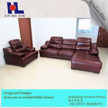 1099 New design recliner back modern leather corner sofa with one seat