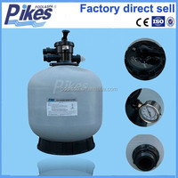 Top mounted grey colour bobbin Wound Fiberglass swimming pool sand filter with black valve