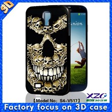 Full protection 3D skull coming our effect king bumper case soft TPU case for samsung galaxy case for S3/S4/S5