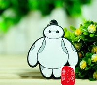 2015 New Cheapest Soft Rubber Baymax Keychains Big Hero 6 Keyrings for Promotion
