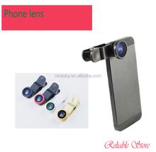 New Arrival Universal general 3 in 1 lens 180 degree Fisheye Lens + Macro Lens + Wide-angle Lens clip Lens Five colors