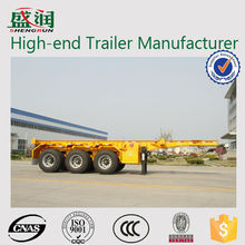 Hot Sale 3 Axles Skeletal Type 40 Feet Container Trailer For Sale/40ft container transport chassis