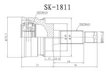 Sk-811 SUZUKI alto, cervo, FRONTE c.v conjunta, 23 * 19 * 49 MM
