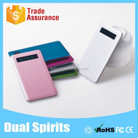 Thin External Battery USB Phone Charger 4000 mAh Universal Backup Power Bank Innovative Products with LCD indicator