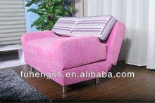 Pink Folding Adjustable sofa indeed bed