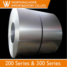 Half copper 201 stainless steel sheet metal coil standard width