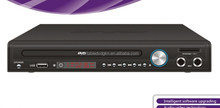 VGA output DVD player with FM radio TV tuner USB port supporting VGA output HD video output LED display