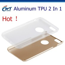 CWT best quality Aluminum TPU double mobile phone case for iphone 6
