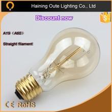 Hoja, espiral filamento a19vintage bombillas, 40 W / 60 W claro bombilla a19 ( PS60 ) vintage bombillas