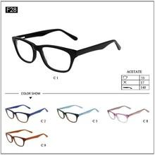 Optical frame for stock acetate wayfarer style glasses