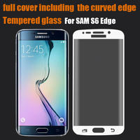 Phone accessory for samsung edge tempered glass for samsung s6 edge full screen protector