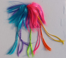 Colorful hair extension assortment