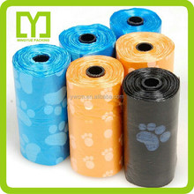 Yiwu printed dog waste bags pack with high quality and cheap price