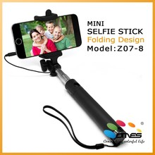 New Arrival recommended selfie stick with wired shutter control for smartphone