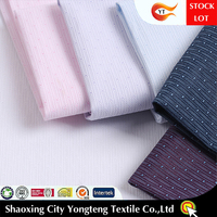 Ready goods, high density dobby cotton polyester shirting fabric