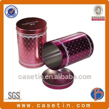 gift packaging supplies/large tin cans/metallic box for tea