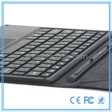 Cheap pogo pin keyboard folding leather case with touchpad for windows tablet