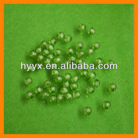 8mm Apple Green Plastic Beads