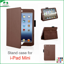 Luxury Lychee pattern PU leather full protective book style folding stand case cover 11 colors for iPad mini / mini 2 / mini 3