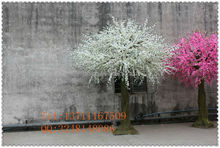 white&pink artificial cherry tree / fake cherry blossom tree / artificial flower tree for decorative