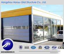 Container Garage Paking Lot Area Car Shed Shelter