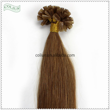 Factory Wholesale Top Quality silky straight wave human hair u tip hair extentions