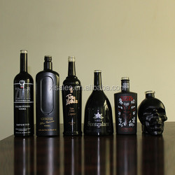 750 ML BLACK GLOSS BOTTLES VODKA 750ML COLOR PAINTING