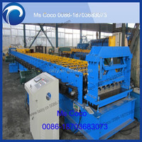 Steel sheet roll tile forming machine