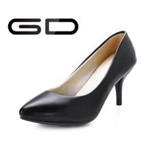 Boda del alto talón de Alibaba 2015 negro zapato de vestir