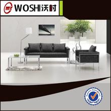 base in acciaio inox ufficio in pelle ricezione divano