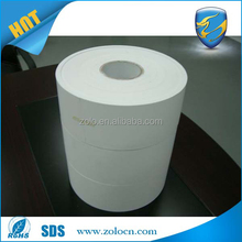 Blank Printed vinyl roll/Super strong adhesive eggshell sticker roll material