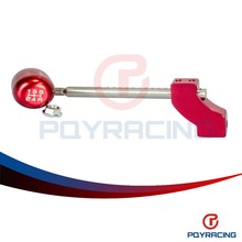 PQY STORE-Red Adjustable Height Short Shifter With Red shift knob For Civic Integra CRX B16 B18 B20 D16