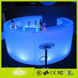 Modern Design Hotel Club Round Glow LED Bar Counter Design