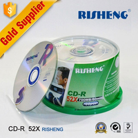 RISHENG blank cd 52X 700MB 120MIN/wholesale blank cd 52X printed/cd-r blank spindle package