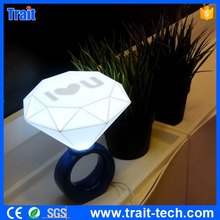 indoor decorative Diamond Rings Night LED Light With I Love You Letters USB Port Charger