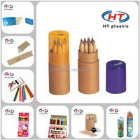 2015 China Supplier Wholesales For School Children Imprint Customized Logo Wooden Color Pencil/Color Pencil/Pencil
