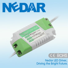 NO Flicker LED Power Supply 1w 2w 3w Constant Current 300mA DC 3-12V Single Output and AC 85-265V Input with CE C-tick LVD EMC