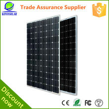 High quality mono crystal silicon solar panel for home use