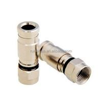 75 Ohm RG59/RG6 Compression RF Connector/F Connector