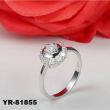 Factory Wholesale Fashion 925 Sterling Silver Jewelry Rings with Big Size CZ Stone