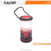 USB recharging private label led camping rechargeable led lantern and power bank