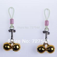 1 pair Alternative sex toys bell nipple clamps shaking stimulate milk clip overcast female breast clip massage