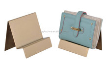 Modern luxury style high quality acrylic woman wallet display stand for leather bag store