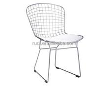 Bertoia side chair upholstered chair/metal chair/modern furniture