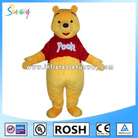 lovely inflatable Winnie bear fur costume for advertising